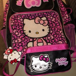 Hello kitty backpack and purse